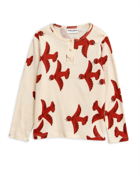 Mini Rodini  Flying birds Grandpa offwhite