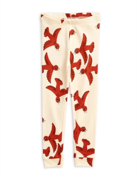 Mini Rodini  Flying birds Leggings offwhite