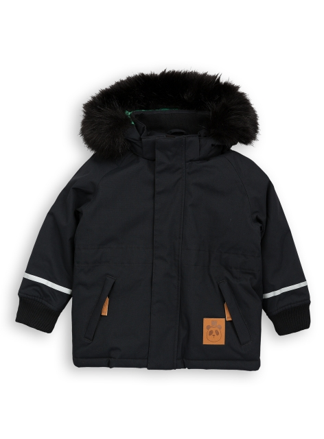 Mini Rodini K2 Fox Parka Black