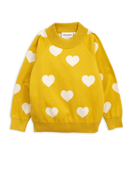 Mini Rodini  Knitted Sweater Heart Yellow