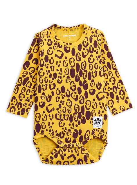 Mini Rodini Leopard Body Yellow
