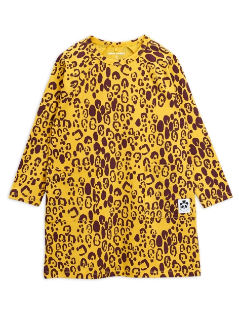 Mini Rodini Leopard dress Yellow
