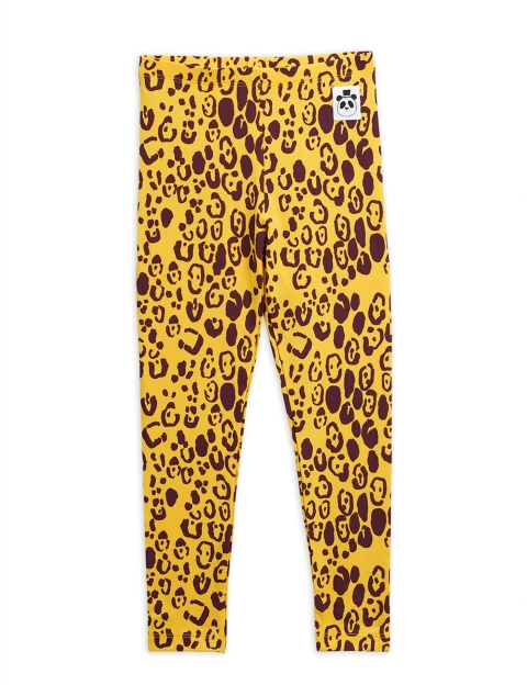 Mini Rodini Leggings Leopard Yellow