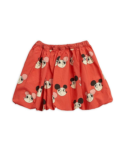 Mini Rodini Ritzratz  woven Balloon Skirt Red