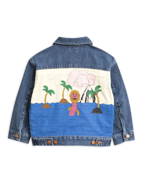 Mini Rodini  Denim Seamonster denim jacket blue