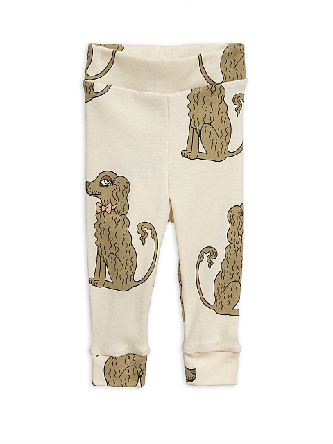 Mini Rodini  Spaniel Leggings new born offwhite