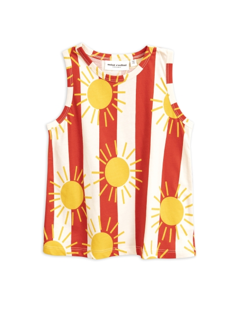 Mini Rodini   Sun stripe aop tanktop Red