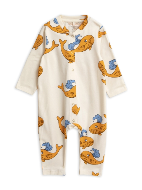 Mini Rodini  Whale Jumpsuit orange