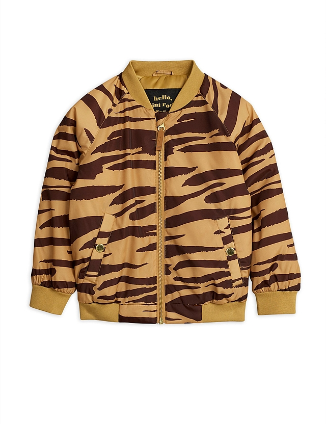 Mini Rodini  Tiger Baseball coat Brown