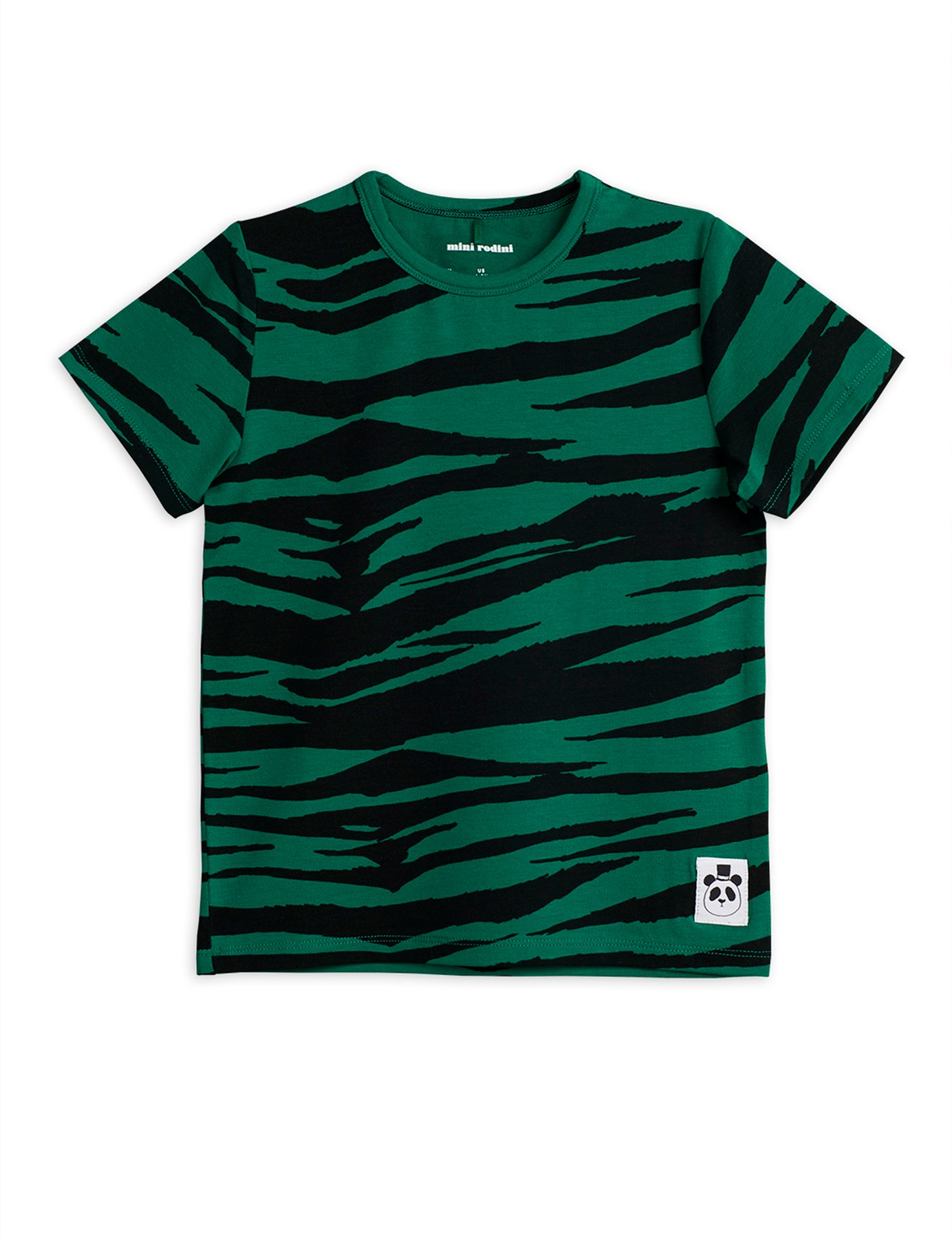 Mini Rodini  Tiger  ss tee green