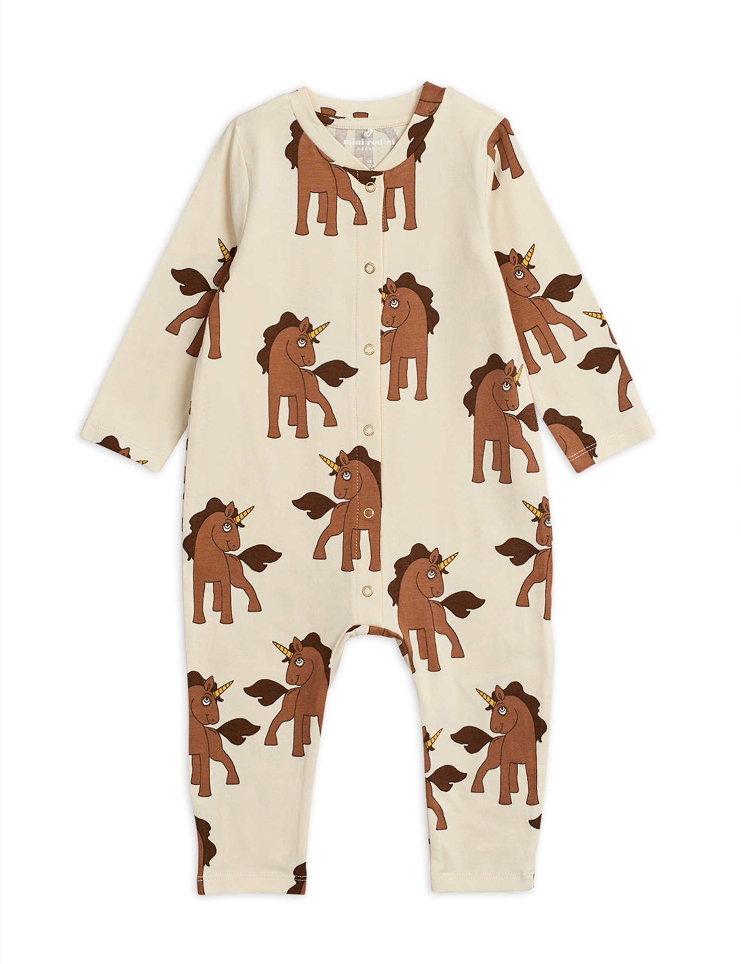 Mini Rodini  Unicorn Jumpsuit Offwhite