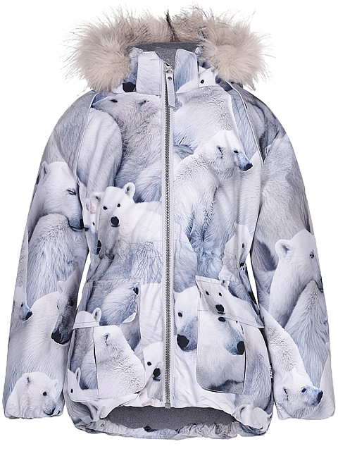 Molo Kids  Cathy Fur Polar bear Toppatakki