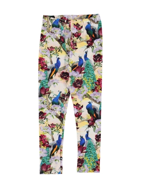 Molo Kids Niki Oriental Peacocks Leggings