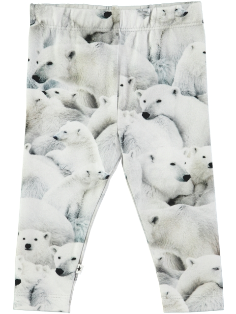 Molo Kids Stefanie Polar Bear Jersey Leggings
