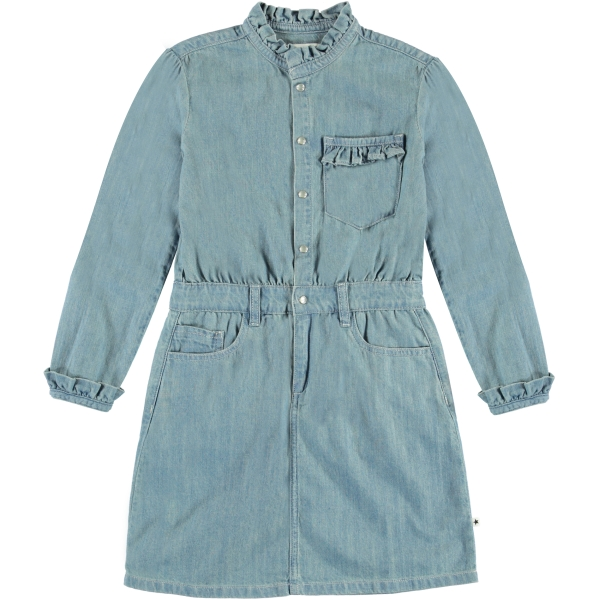 Molo Kids Cali Washed denim blue dress
