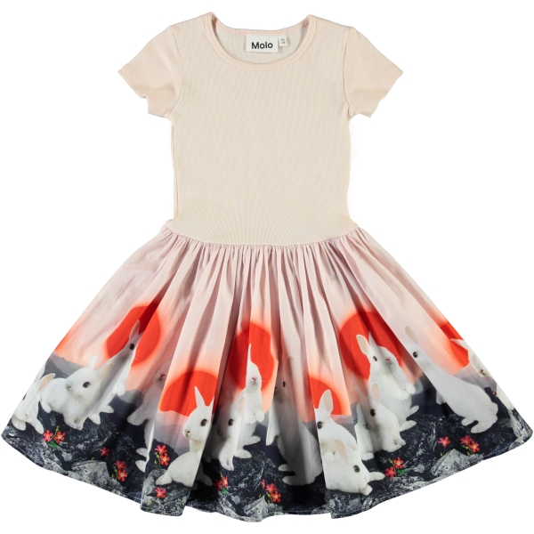 Molo Kids Cissa Sunset Bunnies  dress