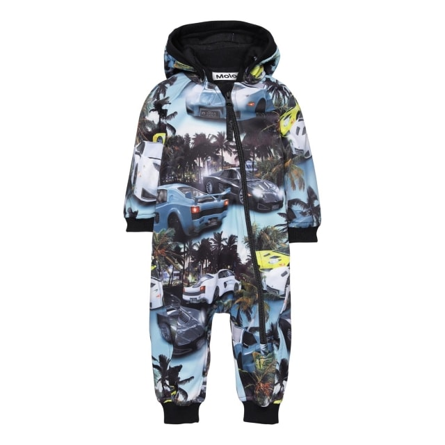 Molo Kids  Hill Fast car Blue  soft shell suit