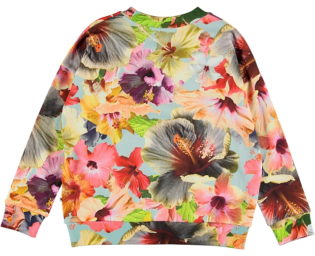 Molo Kids Pacific Floral Blue Sweatshirt