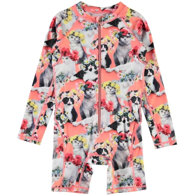 Molo Kids Neka Flower Power Cats UPF