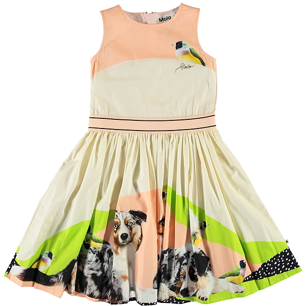 Molo Kids Carli Australian Shepherd  dress