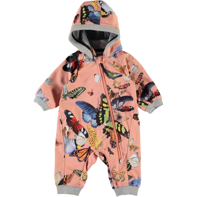 Molo Kids  Hill Flying Butterflies soft shell haalari