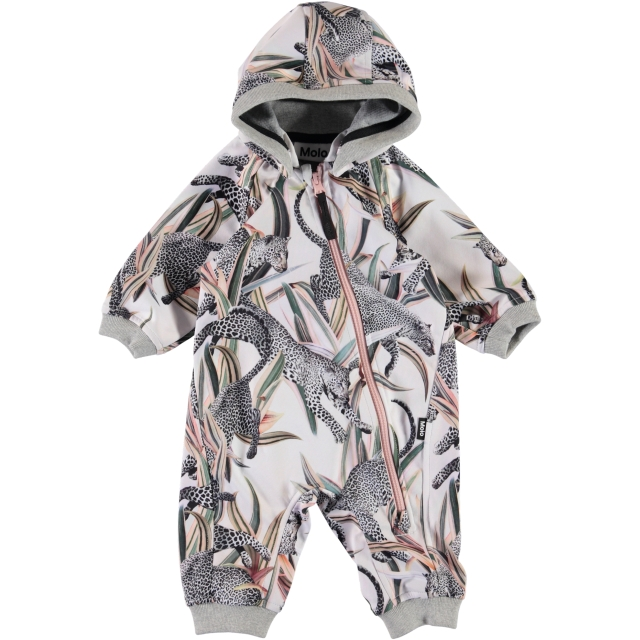 Molo Kids  Hill Jumping leopards soft shell haalari