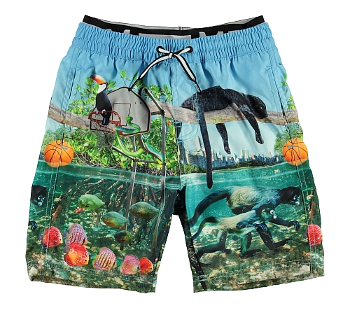 Molo Kids  Neal Jungle Fever UPf Shorts