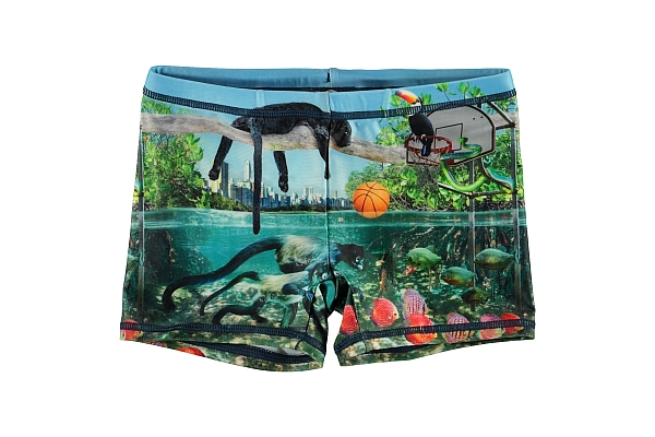 Molo Kids  Norton Placed Jungle Fever UPf Shorts