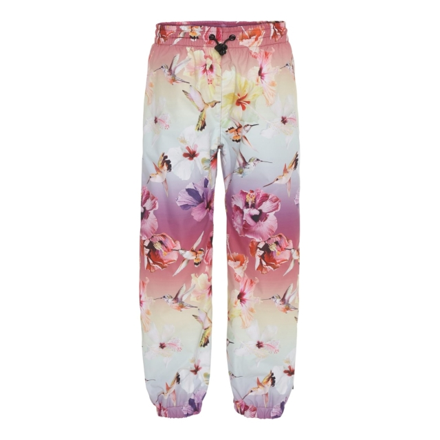 Molo Kids  Waits  Hibiscus Rainbow rainpants