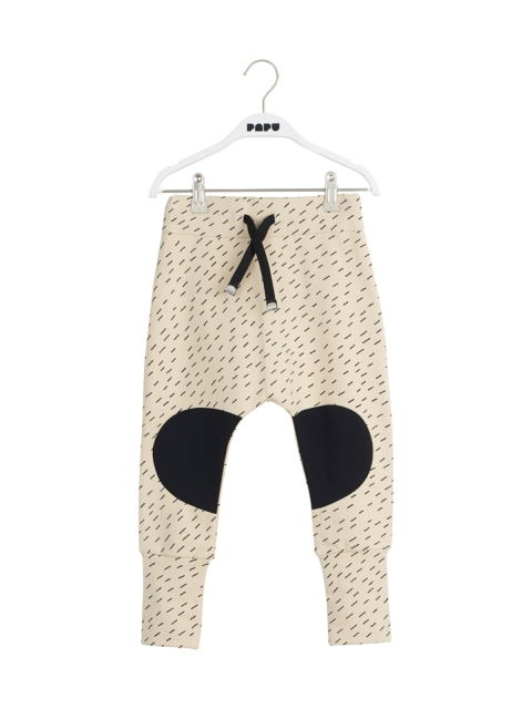 Papu Baggy pants Cream, black