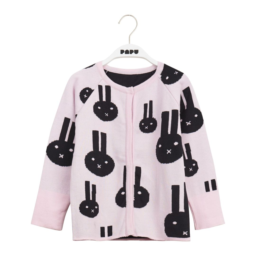 Papu BBF Cardigan Dusty pink/black