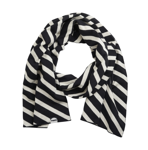 Papu Oblong Scarf knit black, silent grey