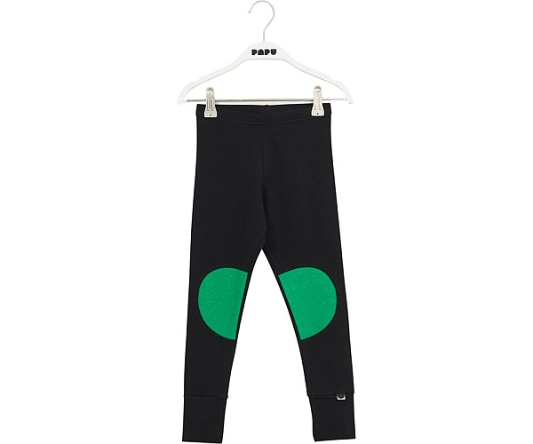 Papu Patch Leggigns Black Loud Green