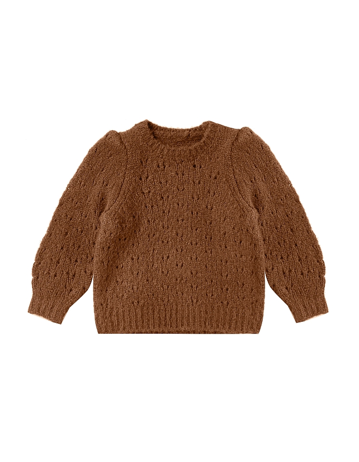 Rylee + Cru Balloon sweater neule cinnamon