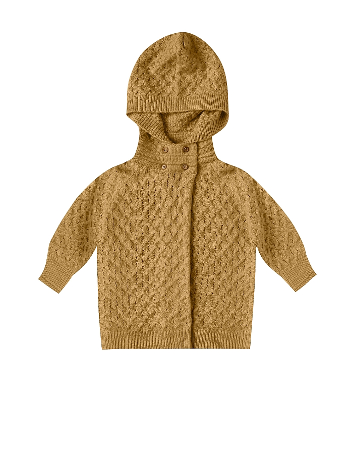 Rylee + Cru Baby Sweater coat goldenrod