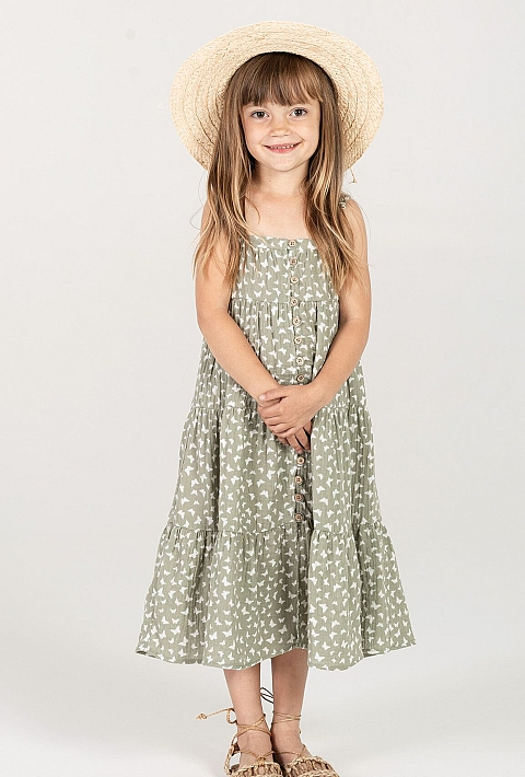 Rylee + Cru Butterfly Maxi dress