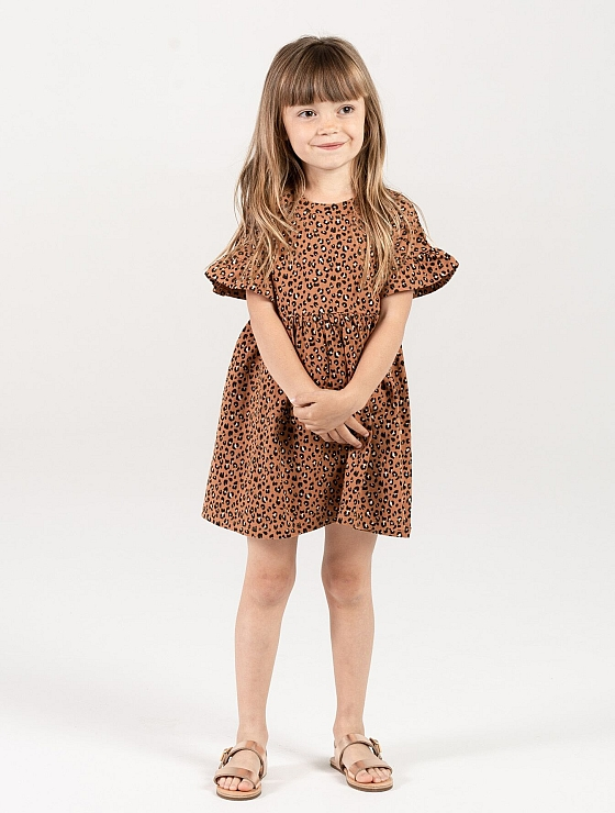 Rylee + Cru Cheetah Babydoll Dress
