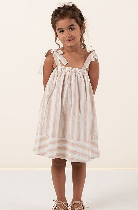 Rylee + Cru Shoulder tie dress