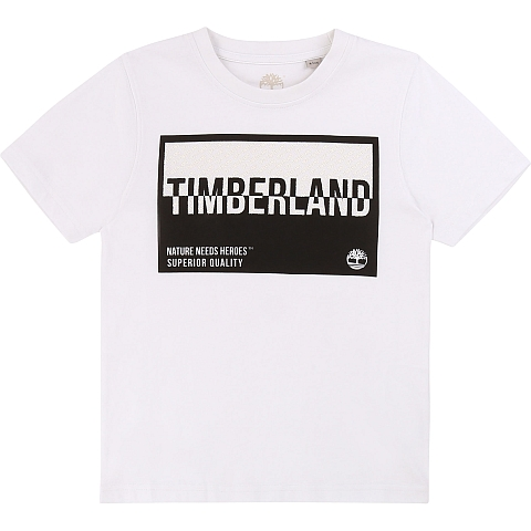Timberland T-shirt  white nature need heroes