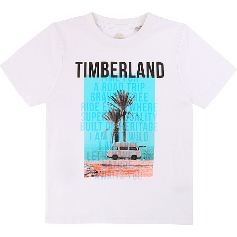 Timberland T-shirt Road Trip white
