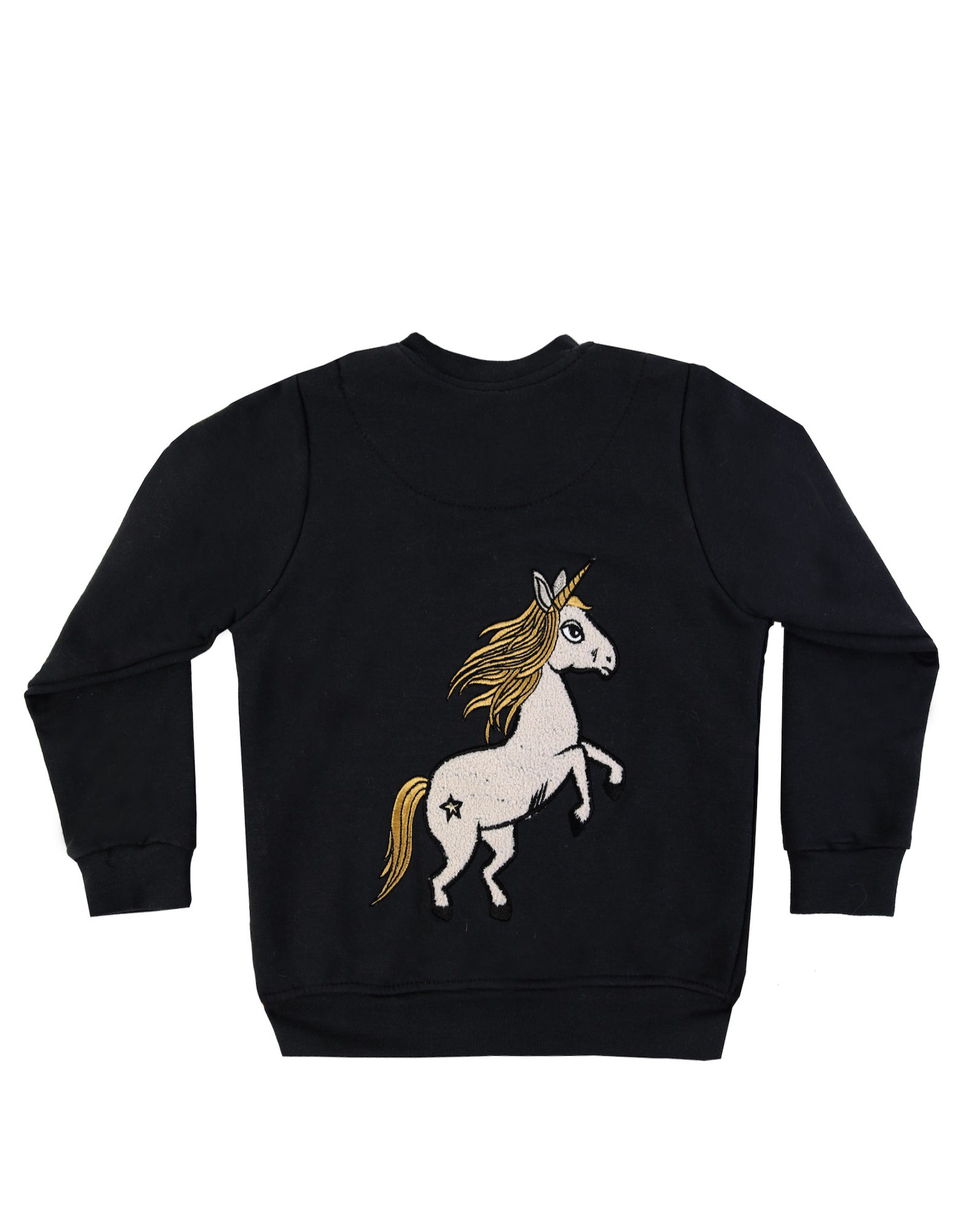 Dear Sophie Black Unicorn Bomber