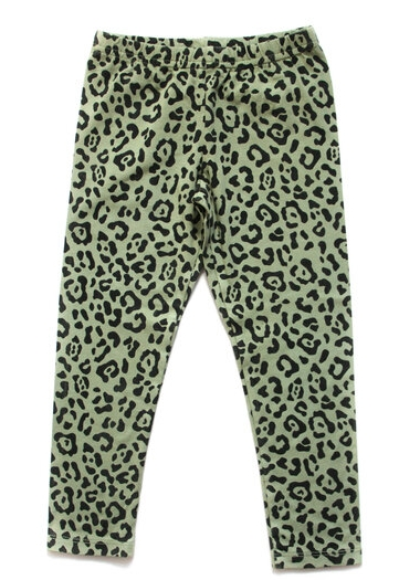 Wildkind Kids Nora Leggings Simple Leopard Olive