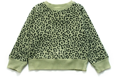 Wildkind Kids Marius Sweatshirt SImple Leopard olive