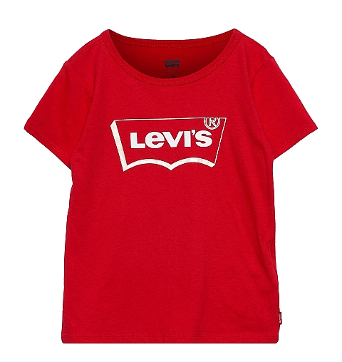 Levi\'s ss tee super red golden print
