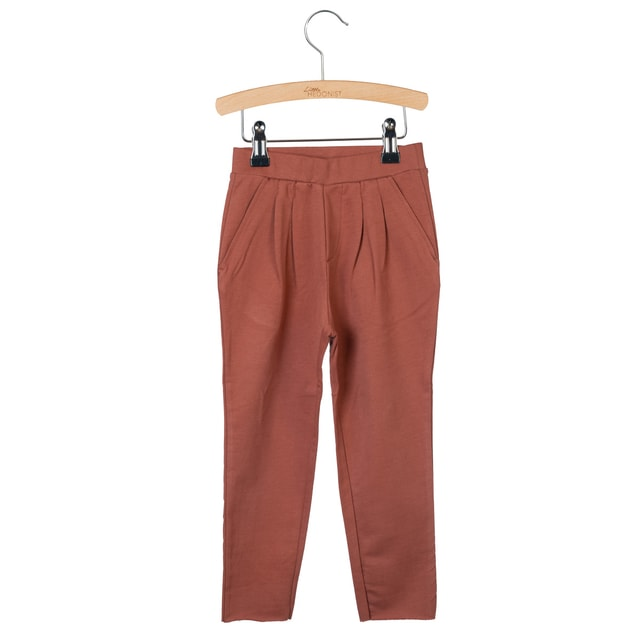 Little Hedonist Kobus Pleated Pants Auburn