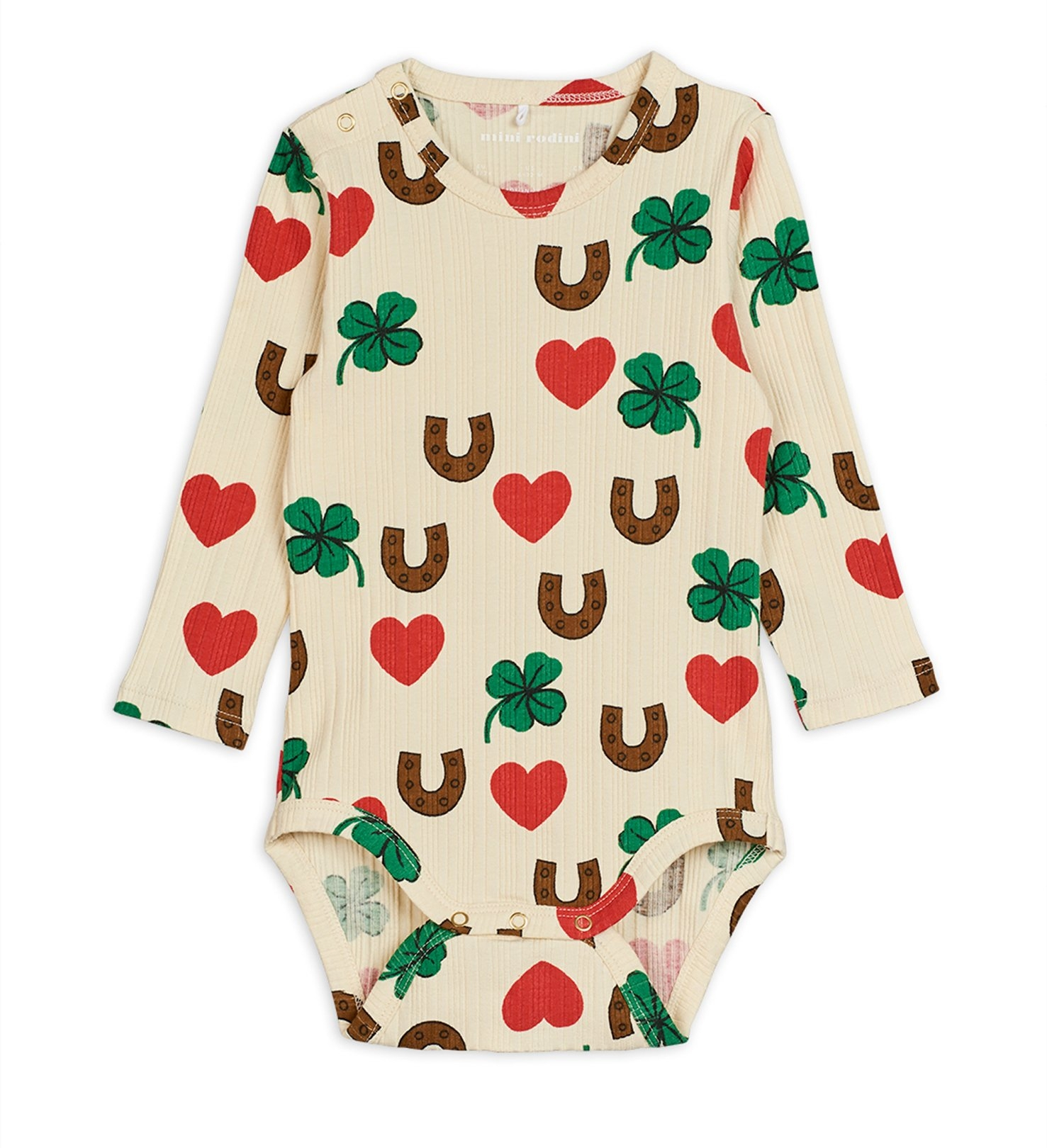 Mini Rodini Clover Body Beige