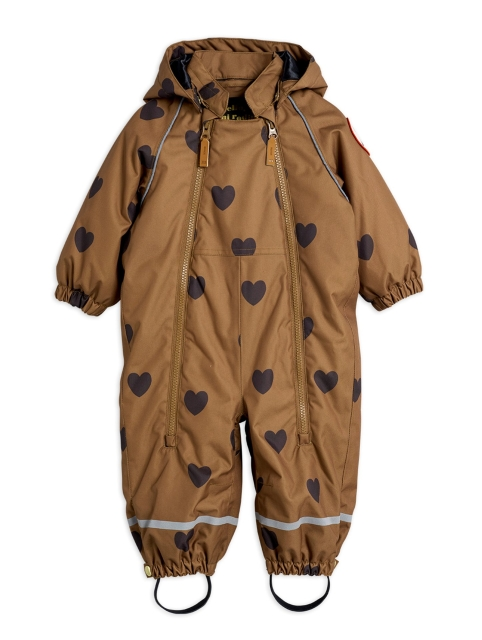 Mini Rodini  Alaska Hearts Baby Overall brown