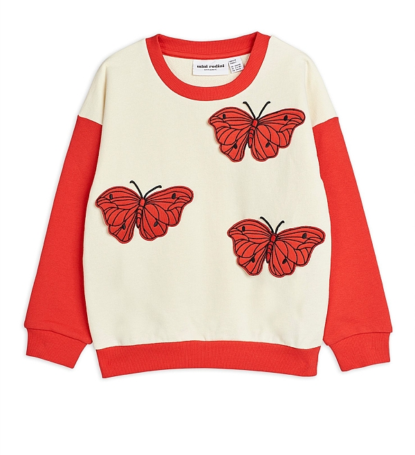 Mini Rodini Butterflies Sweatshirt Red