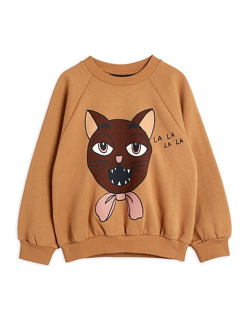 Mini Rodini Cat choir sp Sweatshirt Beige