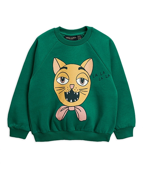 Mini Rodini Cat choir sp Sweatshirt Green